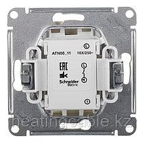 Atlas Design выключатель 1- клавишный МЕХАНИЗМ, скрытая установка алюминий, фото 3