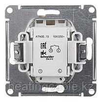 Atlas Design выключатель 1- клавишный с подсветкой МЕХАНИЗМ, скрытая установка алюминий, фото 3