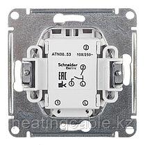 Atlas Design выключатель 2-клавишный с подсветкой МЕХАНИЗМ, скрытая установка алюминий, фото 3