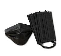 Маска 3-х слойная защитная медицинская (цвет черный, black mask)