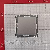 Atlas Design переключатель 1- клавишный МЕХАНИЗМ, скрытая установка алюминий, фото 2