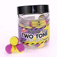 Бойлы плавающие DYNAMITE BAITS Two Tone 20мм (DY601=Plum & Pineapple)