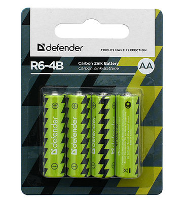 Батарейки Defender AA R6-4B (56112)
