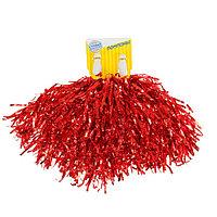 Гофрированные помпоны, набор 2 шт., цвет красный