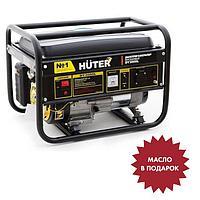 Генератор бензиновый Huter DY3000L, 4Т, 220 В, 6 л.с., 2.7 кВт, ручной старт, 12 л + МАСЛО