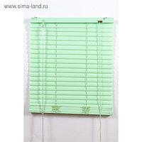 Жалюзи пластиковые, размер 60х160 см, цвет зелёный