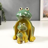 Сувенир керамика 'Семейство лягушат' набор 3 шт 16,5х11,8х9 см