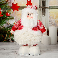 Мягкая игрушка 'Дед Мороз в пышной шубе' 19*55 см (в сложенном виде 37 см)