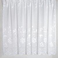 Штора на шторной ленте, цвет белый, 245х165 см