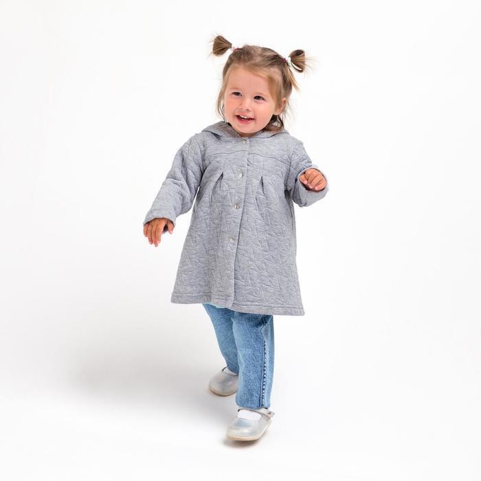 Жакет для девочки, цвет серый, капитоний, рост 80 см, (52) - фото 2