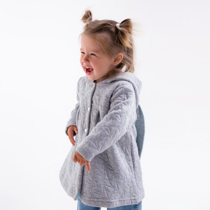 Жакет для девочки, цвет серый, капитоний, рост 80 см, (52) - фото 3