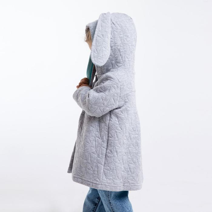 Жакет для девочки, цвет серый, капитоний, рост 80 см, (52) - фото 4