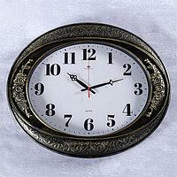 Часы настенные, серия Классика, 'Самвана', горизонтальные, черное золото, 63.5х53.5 см