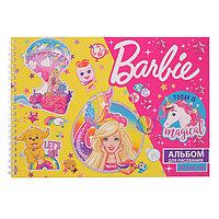 Альбом для рисования А4, 40 листов на гребне 'Барби', обложка мелованный картон