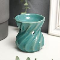 Аромалампа керамика 'Изумруд' 7,8х7х7 см