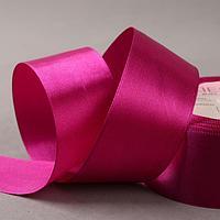 Лента атласная, 40 мм x 23 ± 1 м, цвет тёплый фиолетовый 34