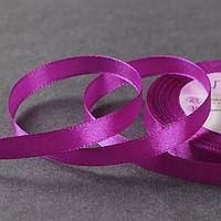 Лента атласная, 10 мм x 23 ± 1 м, цвет тёплый фиолетовый 34