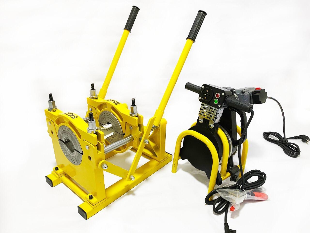 SKAT 63-200мм с 2мя держателями рычаговый, механический сварочный аппарат для стыковой пайки ПП труб