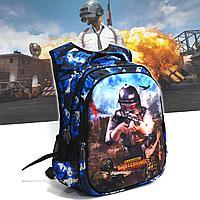 Рюкзак с ортопедической спинкой подростковый камуфляжный Battlegrounds 421 синий
