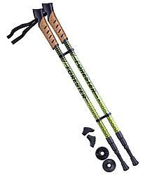 Палки для скандинавской ходьбы Forester, 67-135 см, 3-секционные, болотный/жёлтый Berger