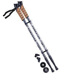 Палки для скандинавской ходьбы Forester, 67-135 см, 3-секционные, серый/черный Berger