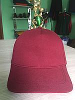 Бордовые кепки | однотонные кепки | кепки бордовые |, фото 1