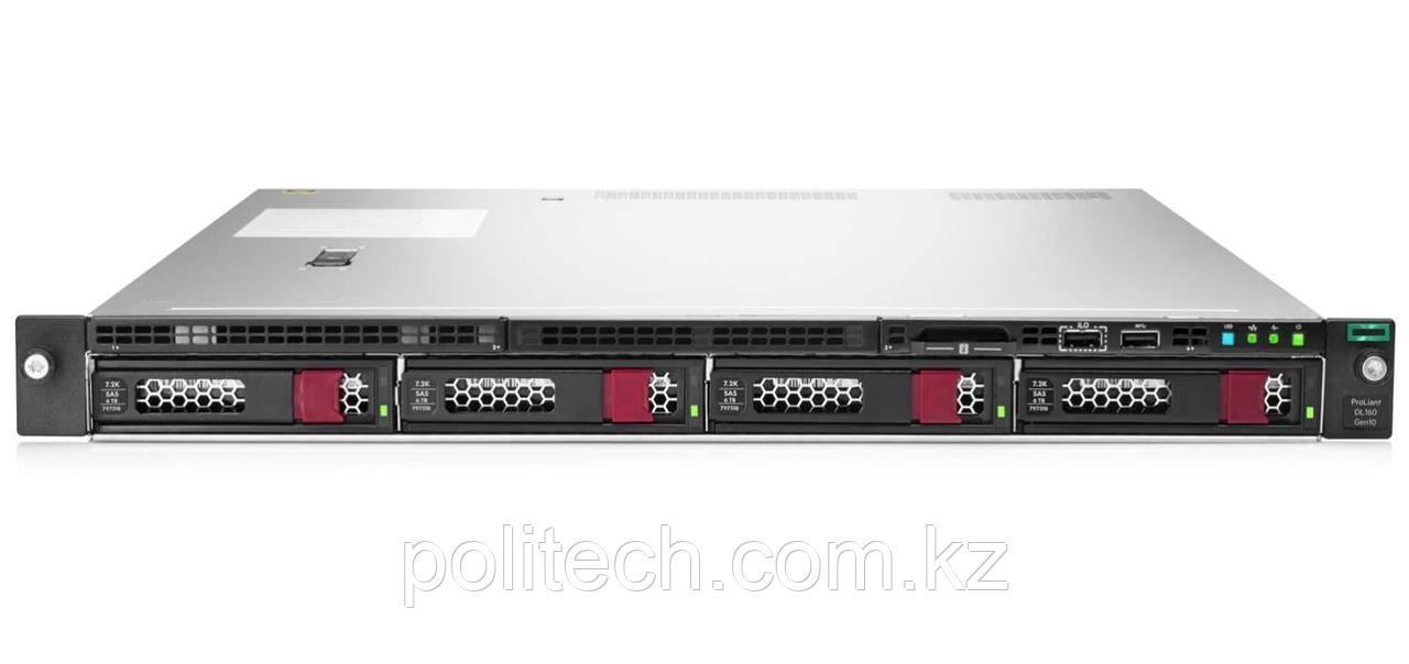 "HPE DL160 Gen10 (1U Rack, Xeon Silver 4210R, 2400 МГц, 10, 13.75, 1x 16 ГБ, LFF 3.5"", 4)"