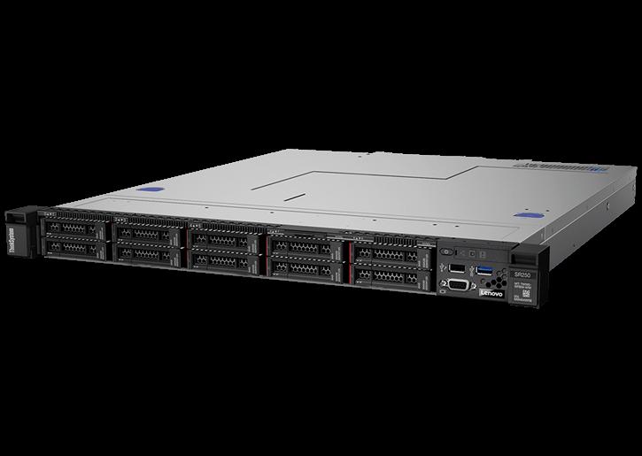 "Lenovo ThinkSystem SR250 (1U Rack, Xeon E-2224, 3400 МГц, 4, 8, 1x 8 ГБ, SFF 2.5"", 10)"