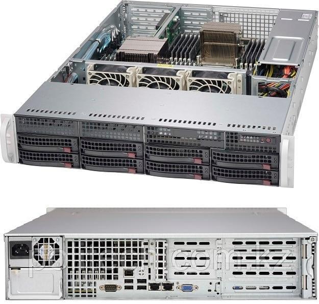 "Supermicro CSE-825TQC-600LPB/X11SCL-F (2U Rack, Xeon E-2224, 3400 МГц, 4, 8, 1x 8 ГБ, LFF 3.5"", 8)"