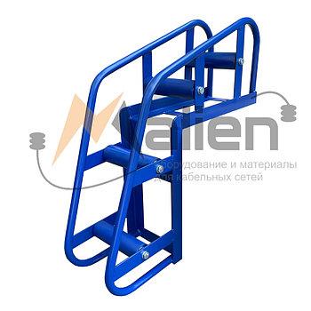 Ролик кабельный угловой направляющий РКУ 4-150М (диаметр кабеля до 150 мм, нагрузка на ролик до 200 кг) МАЛИЕН