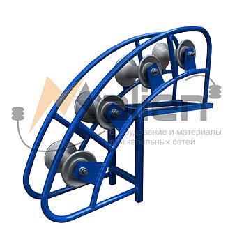 Ролик кабельный угловой направляющий РКУ 4-120А, алюминиевые катушки (диаметр кабеля до 120 мм)