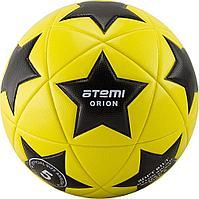Мяч футбольный Atemi, ORION PVC, жёлт/чёрн/бел., р.5, 420г., ламинированный