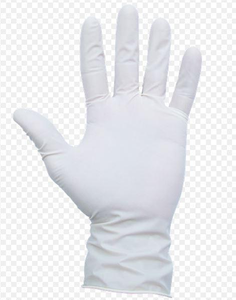 Перчатки латексные нестерильные опудренные размер S,М,L
