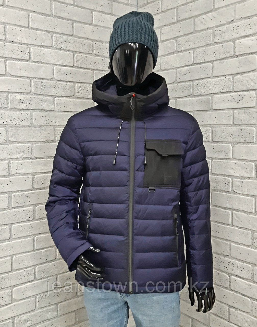 Зимняя мужская куртка Kings Wind  синяя