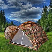 """Палатка с козырьком 3-х местная (200* 200* h135 cm) Art No 2003 камуфляж """"дуб"""""""