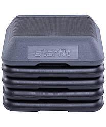 Степ-платформа, 5-уровневая, квадратная, с обрезиненным покрытием Starfit