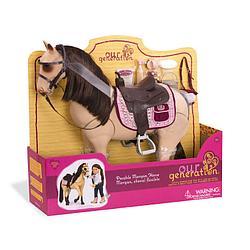 Лошадь для куклы Our Generation породы Морган / Канада/  со сгибающимися суставами,50 см, аксессуары