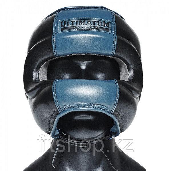 Шлем для бокса с бампером Ultimatum boxing ( Цвет синий)