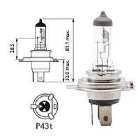 Лампа головного света автомобильная галогенная - H4