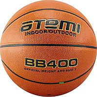 Мяч баскетбольный Atemi, р.7, синтетическая кожа ПУ, 8 панелей, BB400