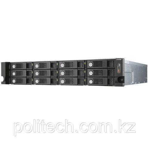 Дисковая СХД Qnap Сетевой RAID-накопитель, 12 отсеков для HDD, стоечное исполнение, два блока питания.
