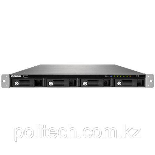 Дисковая СХД Qnap Сетевой RAID-накопитель, 4 отсека для HDD, стоечное исполнение, с двумя блоками питания.