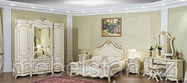 МОНА ЛИЗА спальный гарнитур, крем, 4Д