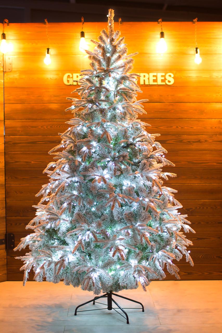 Комнатная елка заснеженная световая Форесто премиум 2.1 м