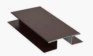Стыковочная планка сложная глянец 40х3000 мм Коричневый