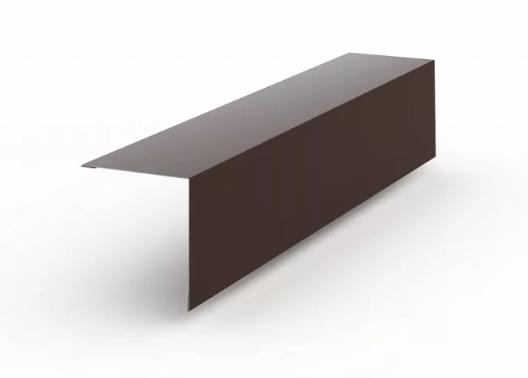 Угол наружный глянец 50x50x3000 мм Коричневый
