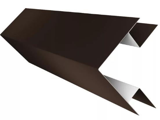 Угол наружный сложный глянец 75x75x3000 мм Коричневый