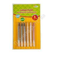 Аквагрим карандаши выдвижные 6 цветов