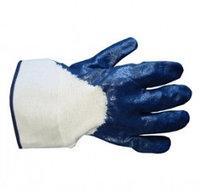 Перчатки нитриловые частичное покрытие, крага