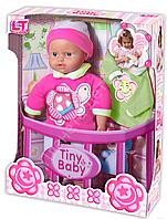 Tiny Baby - Подарочный набор, плачущий мягкий пупс+ аксессуаы